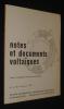 Notes et documents voltaïques, n°4 (3) Avril-Juin 1971. Collectif