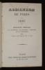 Almanach de Paris 1865. Annuaire général de diplomatie, de politique, d'histoire et de statistique pour tous les états du globe. Collectif