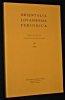 Orientalia Lovaniensia periodica n° 27 1996. Collectif