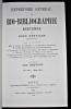 Répertoire général de bio-bibliographie bretonne tome 1. Kerviler René