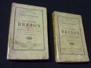 Le foyer breton (2 volumes). Souvestre Emile