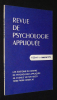 Revue de psychologie appliquée (Volume 25, n°1, premier trimestre 1975). Collectif