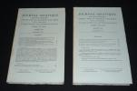 Journal asiatique, Tome CCLXIV, année 1976, Fascicules 1 et 2 & 3 et 4 (2 volumes). Collectif