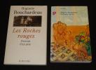 Lot de 2 ouvrages de Huguette Bouchardeau : Les Roches rouges : Portrait d'un père - La Grande Verrière (2 volumes). Bouchardeau Huguette