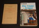 Lot de 2 ouvrage de/sur Elsa Triolet : Le Premier Accroc coûte deux cents francs - Europe (n°454-455, février-mars 1967) : Elsa Triolet et Aragon. ...