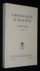 Chronique d'Egypte LXXXV (2010), Fasc. 169-170. Collectif