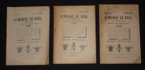 Almanak Ar Bobl a Vreiz-izel, Evid ar Bloavez, 1910, 1911 & 1913 (3 volumes). Collectif