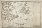 Isle et Banc de Terre Neuve, Isle Royale et Isle St Jean ; avec l'Acadie ou La Nouvelle Ecosse.. (Bonne)