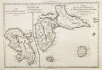 Isle de la Martinique.Isles de la Guadeloupe, de Marie Galante, de la Désirade, et celles des Saintes.. (Bonne)