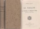 LE VIOLON. Les Violonistes et la Musique de Violon du XVIe au XVIIIe siècle. POUGIN Arthur