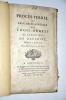 Procès Verbal de l'Assemblée Générale des Trois Ordres de la Province de Dauphiné, tenue dans la ville de Romans, le 2 Novembre 1788. Collectif