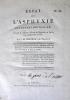 Premier volume : J.M FRETEAU: Essai sur l'asphyxie de l'enfant nouveau né (no 64 ) An VIIV.F. A. LEGOUPIL : Dissertation sur l'operation de la hernie ...