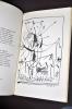 L'espace et la flûte. Variations sur douze dessins de Picasso. . TARDIEU, Jean.