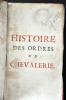 Histoire des ordres de chevalerie. HERMANT