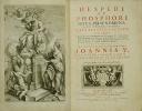Hesperi et Phosphori nova phaenomena sive observationes circa Planetam Veneris.. BIANCHINI, François