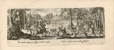 Venationis, piscationis, et aucupii typi. Joes Bol depingebat. Philip. Galleus excud..