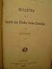 Bulletin de la Société des Etudes Indochinoises de Saïgon - Bulletin No 54 - 1er Semestre 1908.. [BULLETIN de la SOCIETE des ETUDES INDOCHINOISES]