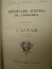 Inventaire Général de l'Indochine - Fascicule V - L'Annam . [ANNAM]  [L. CADIERE]
