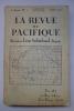 La Revue du Pacifique, 4e Année No.7, Juillet 1925. [LA REVUE DU PACIFIQUE]