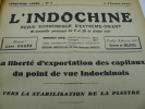 L'Indochine - Revue Economique d'Extrême-Orient - 1929 - Ensemble complet de 22 numéros parus en 1929. Directeur-Fondateur Bauduin de Belleval, ...