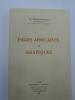 Pages Africaines et Asiatiques. MONCHARVILLE (M.)