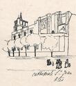 [Maquette / Tapuscrit / Dessins / Gravures / Lavis] Clochers de Provence. Rossignol, Lily