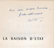 La Raison d'Etat, textes publiés par le Comité Marius Audin. Vidal-Naquet, Pierre