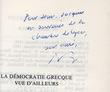 La Démocratie grecque vue d'ailleurs. Vidal-Naquet, Pierre