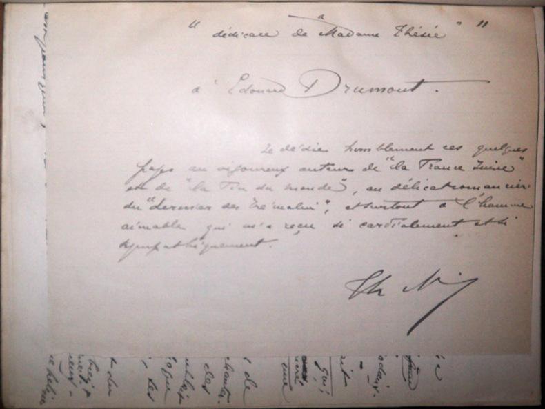 Manuscrit autographe inédit : Madame Thésée (nouvelles), 1888-1889 [suivi de] Impressions modernistes. Maisonneuve, Thomas