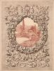 Paire d'estampes sur satin pour le gardes de En Italie, de Maurice Barrès, eaux-fortes en couleurs et vignettes de Auguste-Henri Thomas. . Thomas, ...