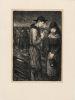 Suite de 12 lithographies sur Japon, pour Les Gueules noires, de Emile Morel. Steinlen, Théophile-Alexandre - [Morel, Emile]
