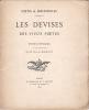 Poètes & bibliophiles : Les Devises des vieux poètes, étude littéraire et bibliographique. Mouravit, Gustave