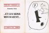 ... et les seins mouraient... édition ornée d'un frontispice par Miro. Péret, Benjamin - Miro, Joan (ill.)