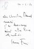 Lettre autographe signée à l'écrivain Christian Maurel [14 février 1971] avec un petit dessin original signé. Fini, Leonor (1908-1996, peintre)