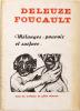 Mélanges : pouvoir et surface. Avec six surfaces de Gilles Deleuze. [Faces et surfaces par Deleuze et Czerkinsky / Le Pouvoir et la norme par Michel ...