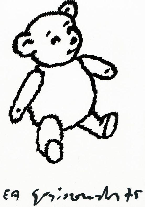 [Lithographie originale signée] : Ourson / Nounours / Teddy bear. Gasiorowski, Gérard