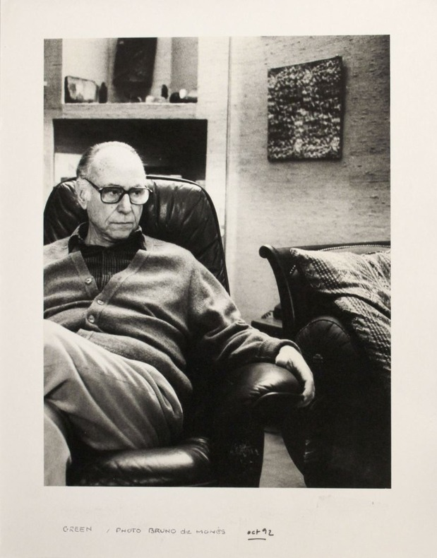 Portrait photographique de André Green par Bruno de Monès (tirage vintage signé). [Green, André (1927-2012)] - Monès, Bruno de (né en 1951)
