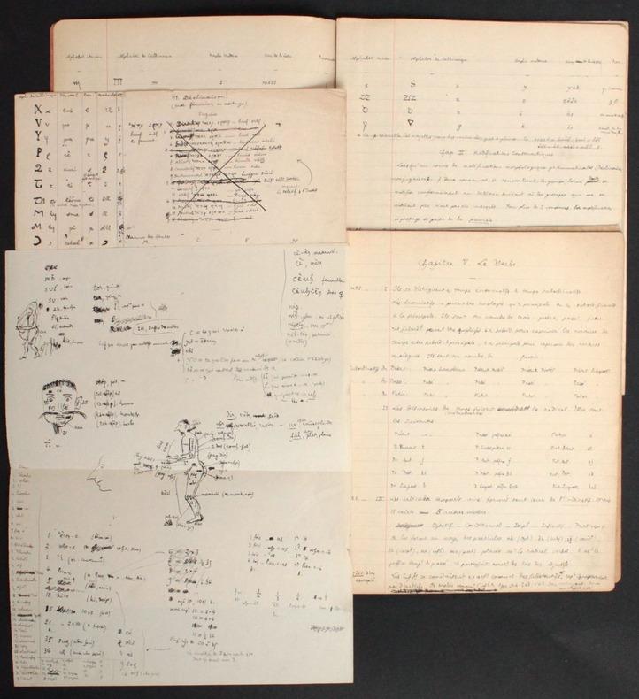 [Manuscrits autographes inédits] Grammaire Irlemande (langue imaginaire). Pichon, Edouard (1890-1940, médecin, psychanalyste et grammairien français)