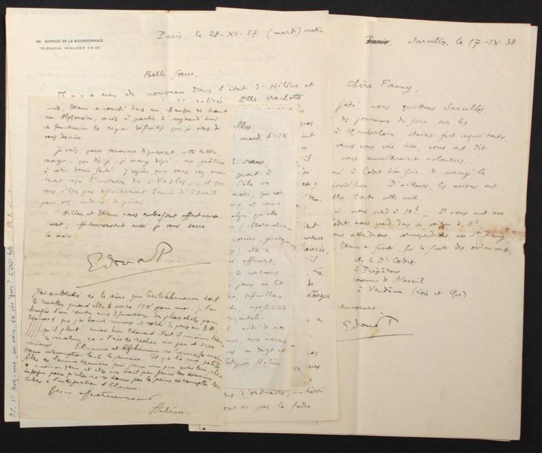 [Correspondance privée] Lettres autographes signées adressées à Fanny Janet (1897-1994). Pichon, Edouard (1890-1940, médecin, psychanalyste et ...