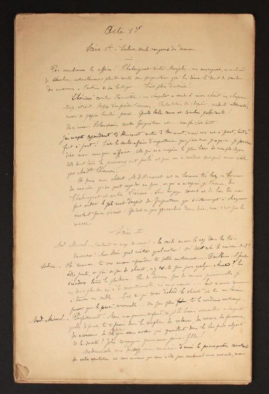 [Manuscrits autographes] Théâtre et Poésies. Pichon, Fernand (1857-1918) [et Pichon, Edouard (1890-1940, médecin, psychanalyste et grammairien ...