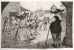 Nouvelles exemplaires : Rinconete et Cortadillo, L'Illustre laveuse de vaisselle. Gravures originales de Enrique Marin.. Cervantes, Miguel de - Marin, ...