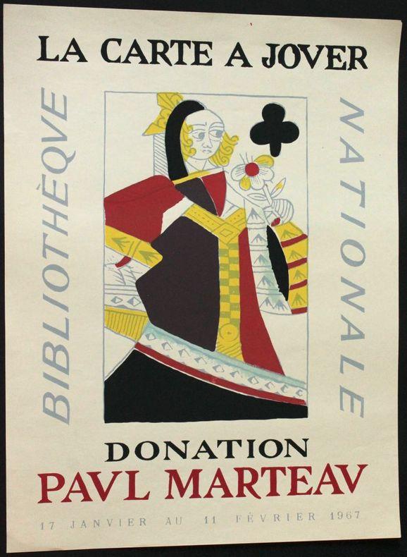 La carte à jouer, donation Paul Marteau. Bibliothèque nationale, du 17 janvier au 11 février 1967.. [Affiche]