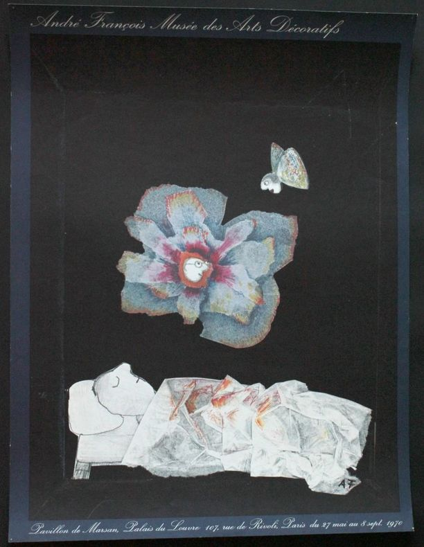 André François, Musée des arts décoratifs, pavillon de Marsan, palais du Louvre, du 27 mai au 8 septembre 1970.. [Affiche] François, André