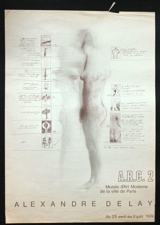 Alexandre Delay, ARC 2, Musée d'art moderne de la ville de Paris, du 25 avril au 2 juin 1974. [Affiche] Delay, Alexandre