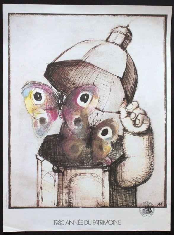 1980 année du patrimoine. [Affiche] François, André