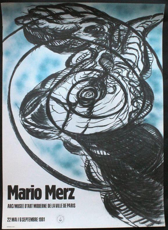 Mario Merz. ARC / Musée d'art moderne de la ville de Paris, 26 mai - 6 septembre 1981.. [Affiche] Merz, Mario