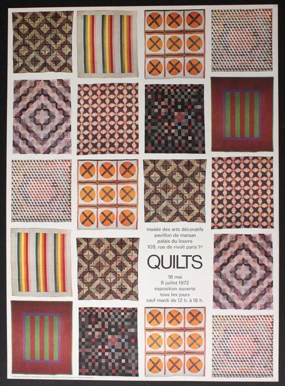 Quilts, Musée des arts décoratifs, pavillon de Marsan, 18 mai 9 juillet 1972. [Affiche] Cieslewicz, Roman