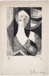 Nicolas Carréga : carte de voeux pour 1958 et lithographie originale. Carréga, Nicolas