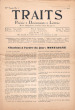 Traits. Poésie, Documents, Lettres. Revue indépendante paraissant douze fois par ans. IVe année, n° 3, mars 1944.. [Revue - Résistance] - [Eluard, ...