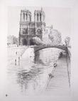 Spiritualité de Paris. Avec 20 eaux-fortes de Omer Bouchery.. Darras, Pierre ; Bouchery, Omer (ill.)